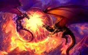 Dragones guerreros luchadores