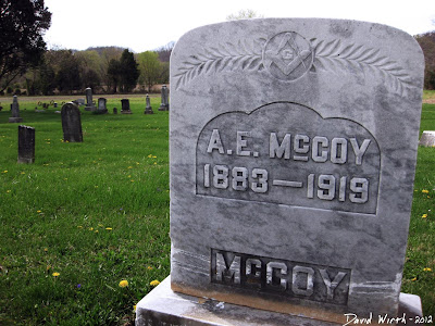 hatfield, mccoy, tombstone, graveyard, a.e.mccoy, 1883-1919, west virginia, kentucky