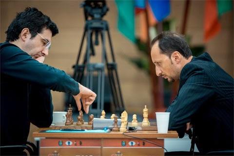 Ronde 6 : Veselin Topalov 1-0 Vladimir Kramnik - Photo © ChessBase