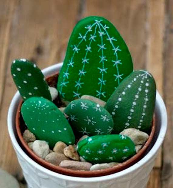 Decoraci n diy ideas y manualidades de decoraci n - Jardines con cactus y piedras ...
