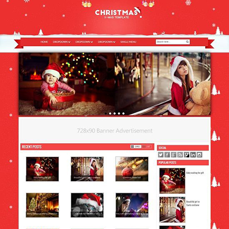 Template Christmas - Blogspot - Responsive