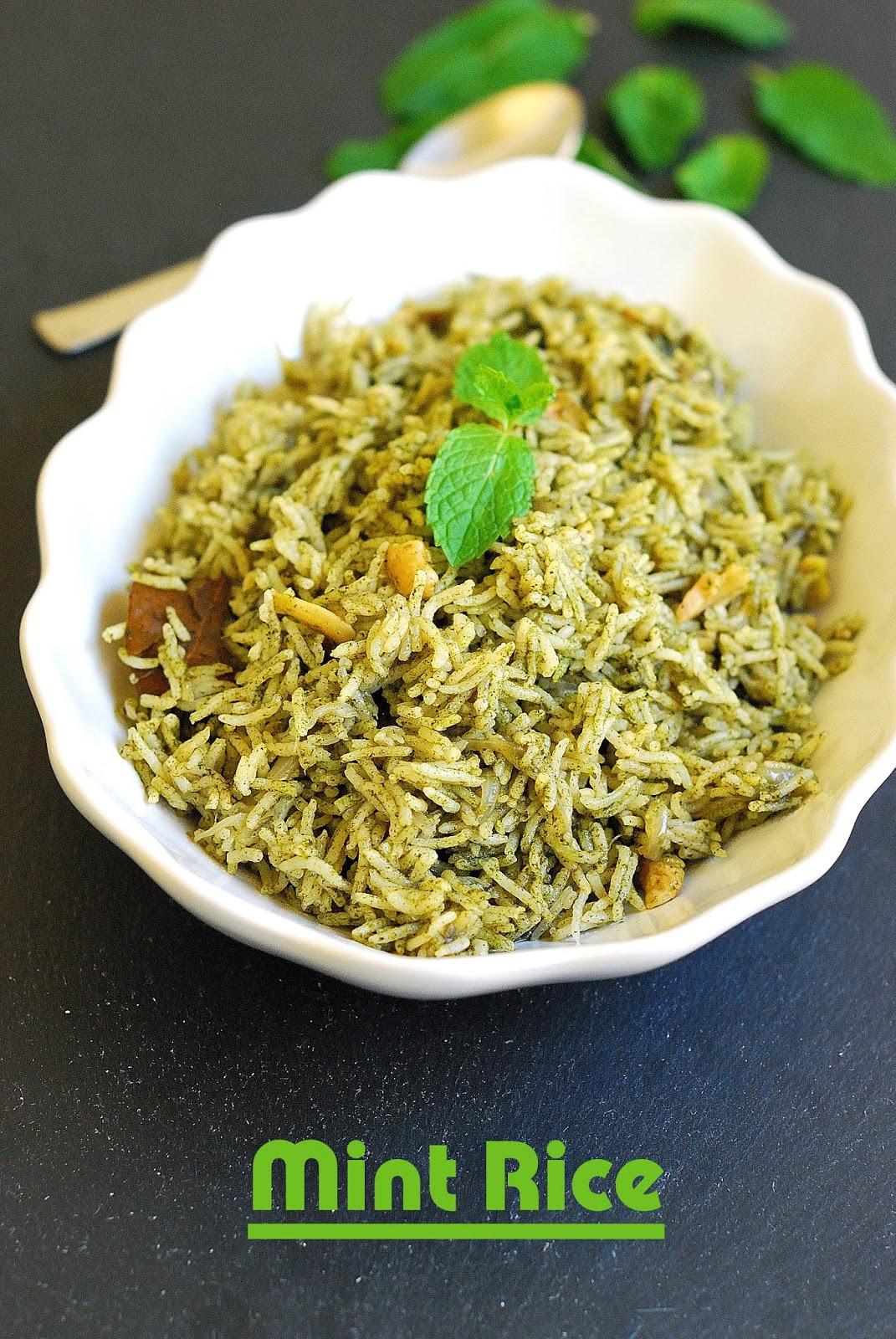 Mint Pulao Mint Rice Pudhina Rice Lunchbox Recipe