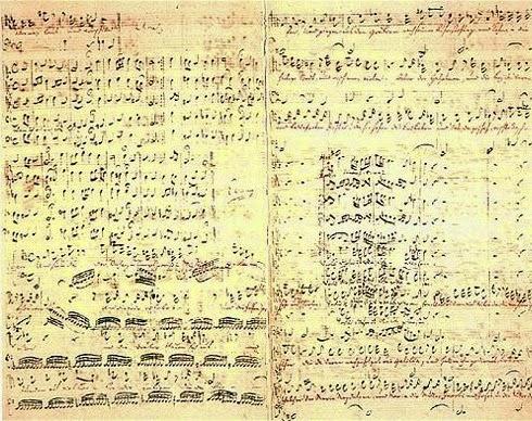 Bach St Matthew Passion - Manuscript