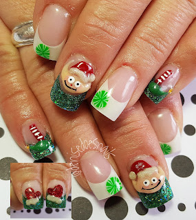 Elf Christmas nails