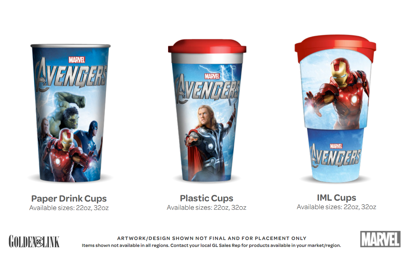 ... Cups Images of the avengers movie theater products – popcorn