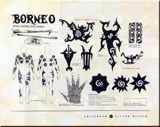 Tatto meaning of Dayak Borneo Indonesia