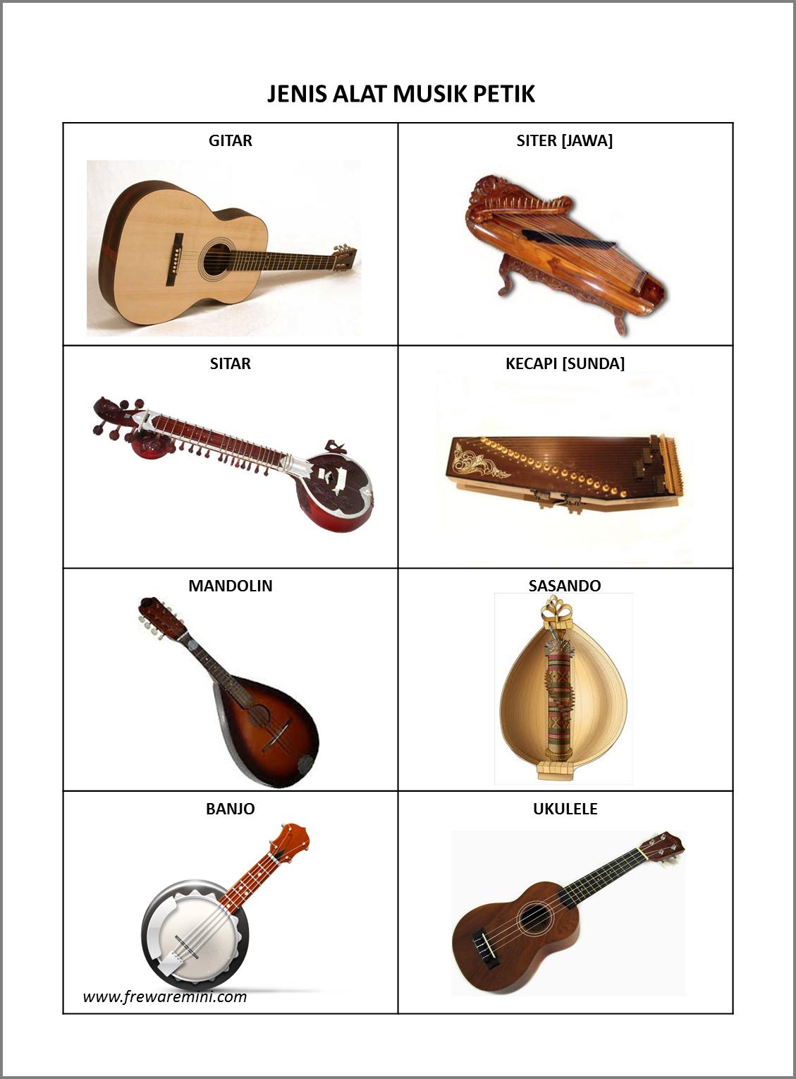 Music Unix: Berbagai macam jenis Alat musik