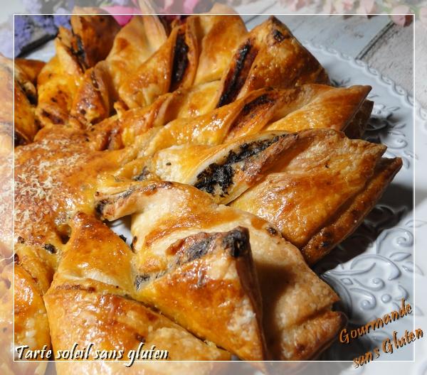 tarte soleil feuilletée sans gluten