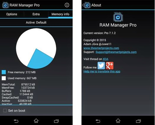 Screenshot RAM Manager Pro