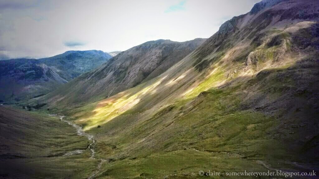 The view - half way up Scafell Pike, England