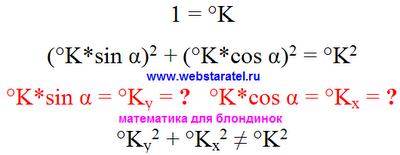 Теорема Пифагора. Применение теоремы Пифагора к единицам измерения температуры. Математика для блондинок.