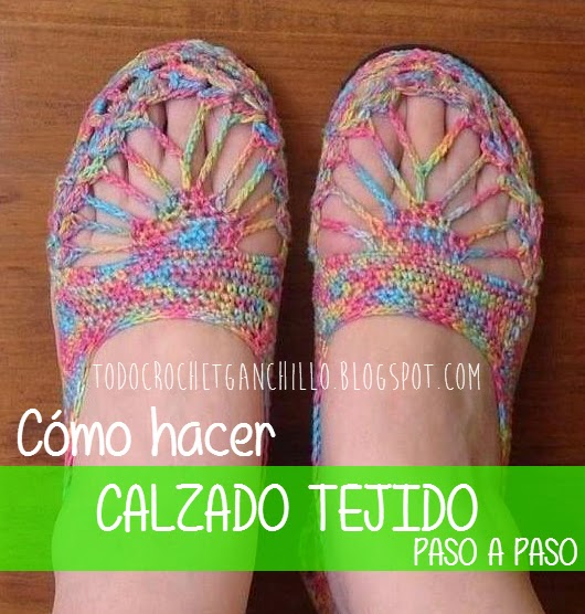 DIY tutorial de mocasin ganchillo