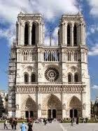 Fachada Catedral de Notre Dame, Paris. Arte Gótico.