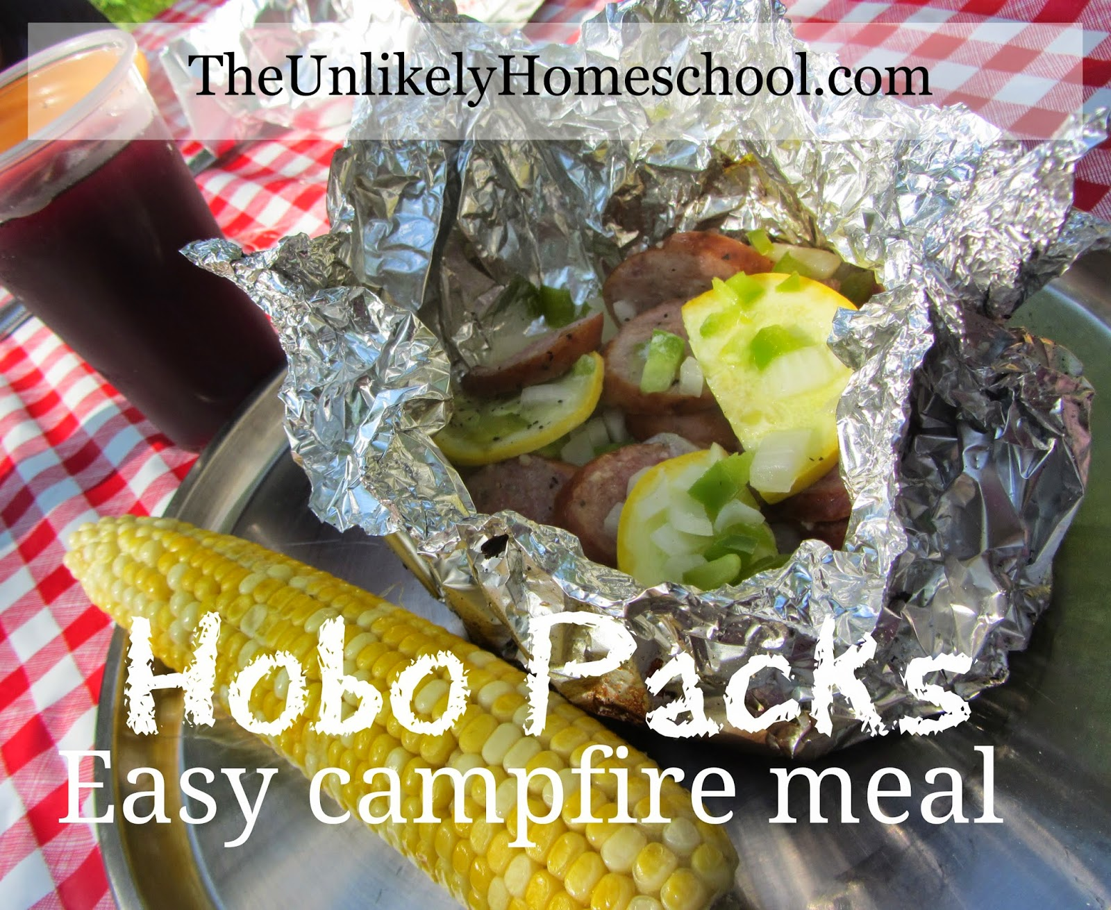 Hobo Packs: Easy campfire meal {The Unlikely Homeschool}
