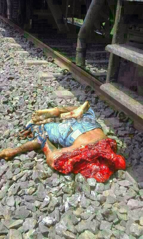 Ngeri Badan Lelaki Terputus Dua Kerana Tergelincir Dari Keretapi