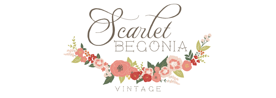 Scarlet Begonia Vintage