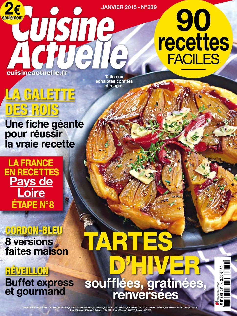 magazine cuisine actuelle n 289 janvier 2015. Black Bedroom Furniture Sets. Home Design Ideas