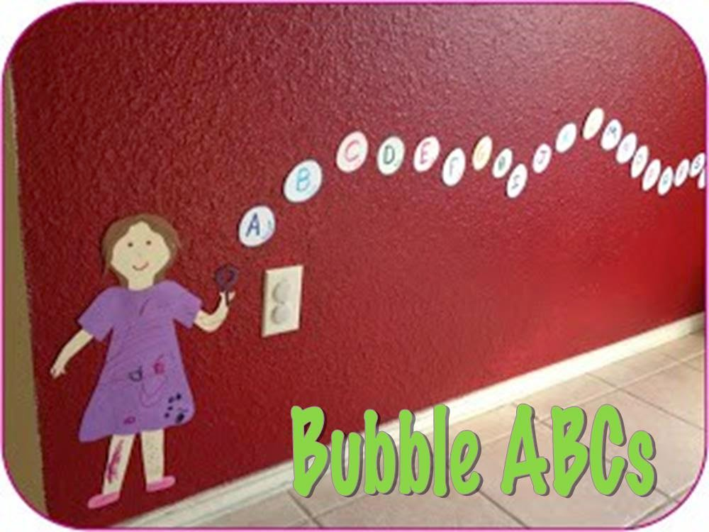 Help kids learn ABCs with this fun bubble decoration and learning tool