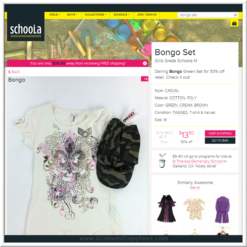 Shop for gently used and new with tags kids fashions online at Schoola