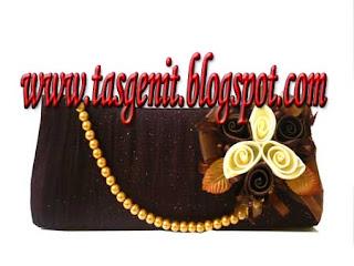 tas pesta clutch bag cokelat dompet pesta