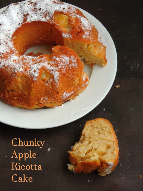 Ricotta apple cake, chunky Apple Ricotta Cake
