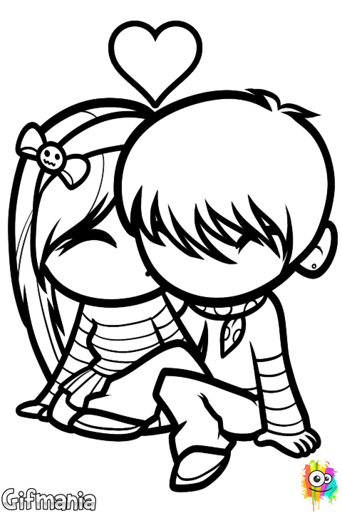 dibujo de amor com: