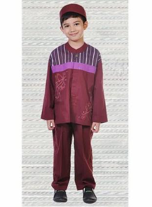 Gambar contoh model baju muslim anak laki-laki