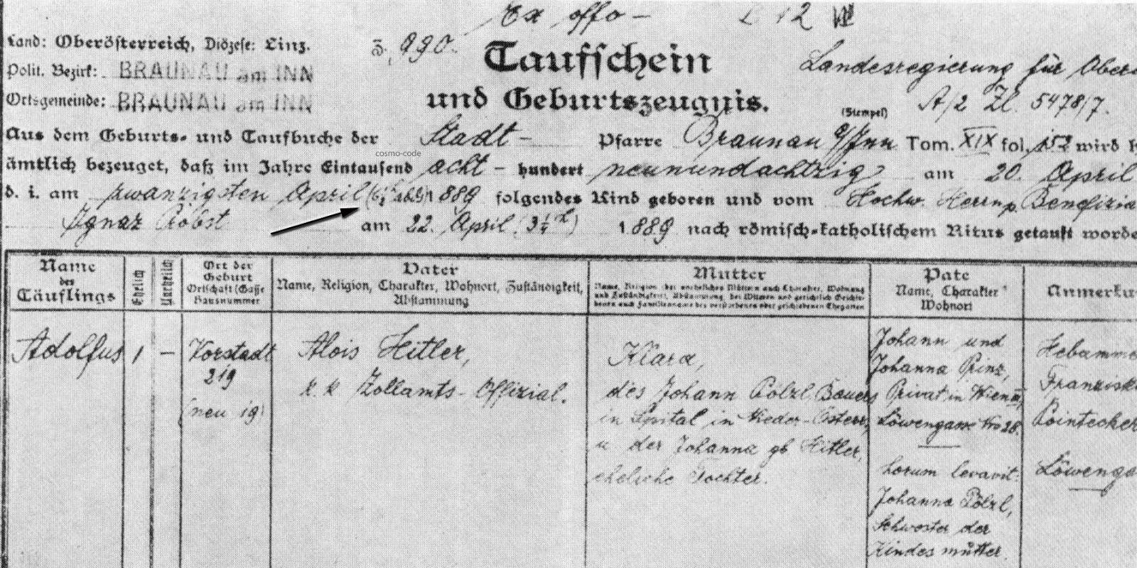 Adolf hitler date of birth