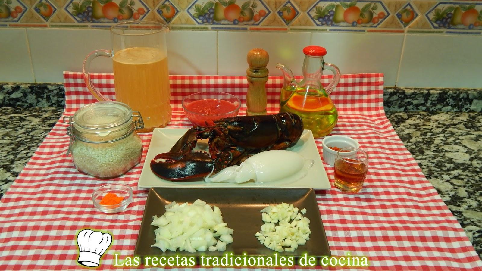 Receta de arroz meloso con bogavante