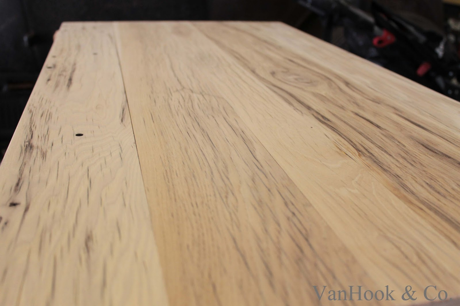 Oak Table Top - Reclaimed oak table top
