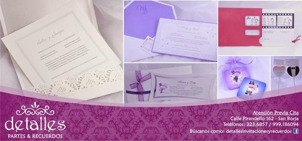 Partes, Invitaciones y Recuerdos para Matrimonio, Boda y Shower