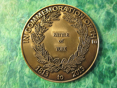 Image: Commemorative Medallion for the 200th anniversary of the Battle of York