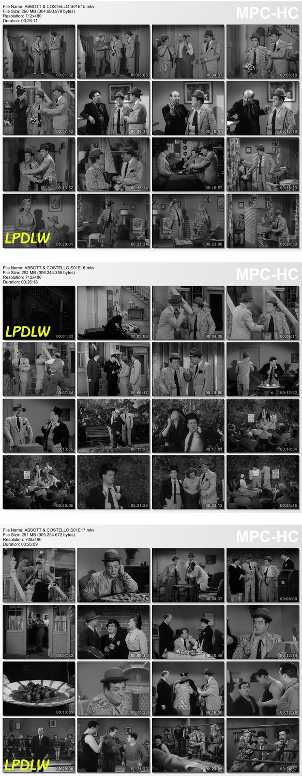 El Show de Abbott y Costello - S01 E15-16-17-18-19-20