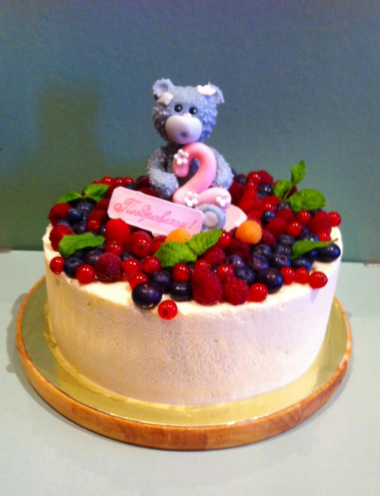 Торты с фруктами на день рождения ребенка 1 годик фото