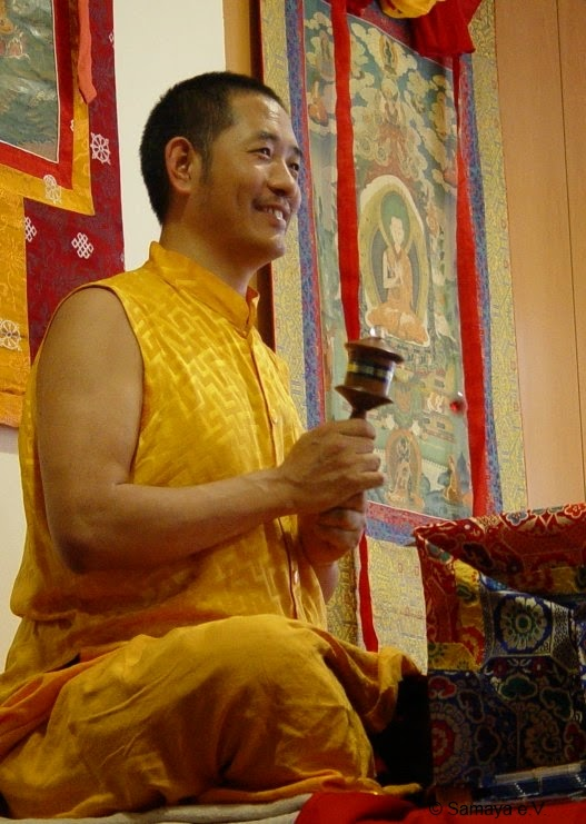 "Drupon Tsering Rinpoche at the Viennese meditation group ""Samaya""."