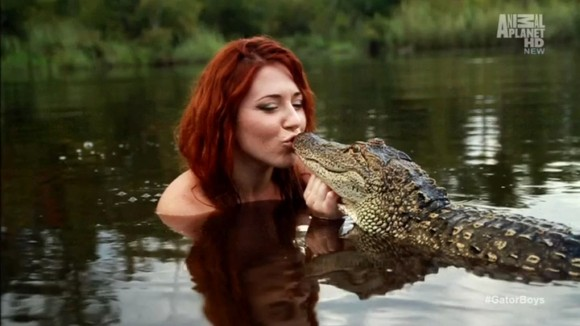 Ashley From Gator Boys http://awesomedl.com/gator-boys-season-2-episode-3-attack-of-the-zombie-gator/