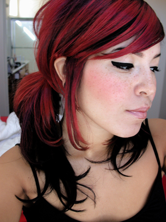 funky emo hairstyles. Long Emo Blonde Hairstyles
