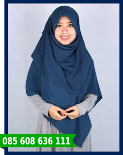Jilbab segi empat wajah bulat
