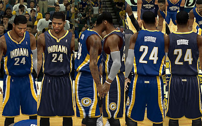 NBA 2K13 Indiana Pacers Jersey Pack NBA2K Mod