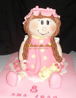 bolo 3d boneca, bolo boneca de trapos, bolo decorado boneca