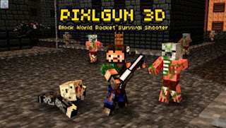 Screenshots of the Pixel Gun 3D Minecraft style for Android tablet, phone.