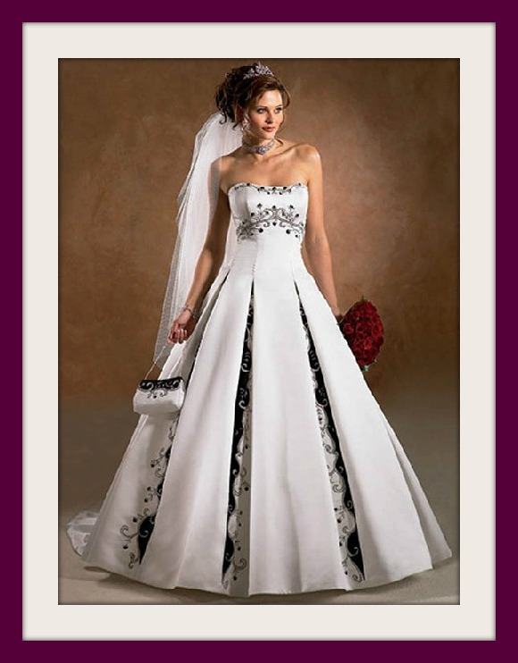 vestido de novia detalles negro – vestidos largos