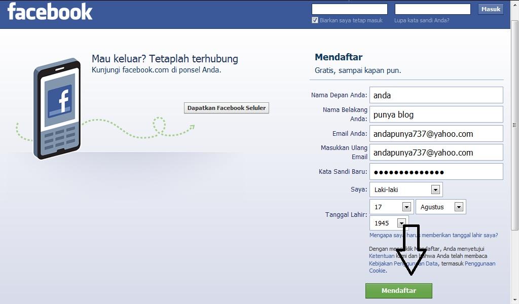 Cara mudah membuat akun facebook terbaru