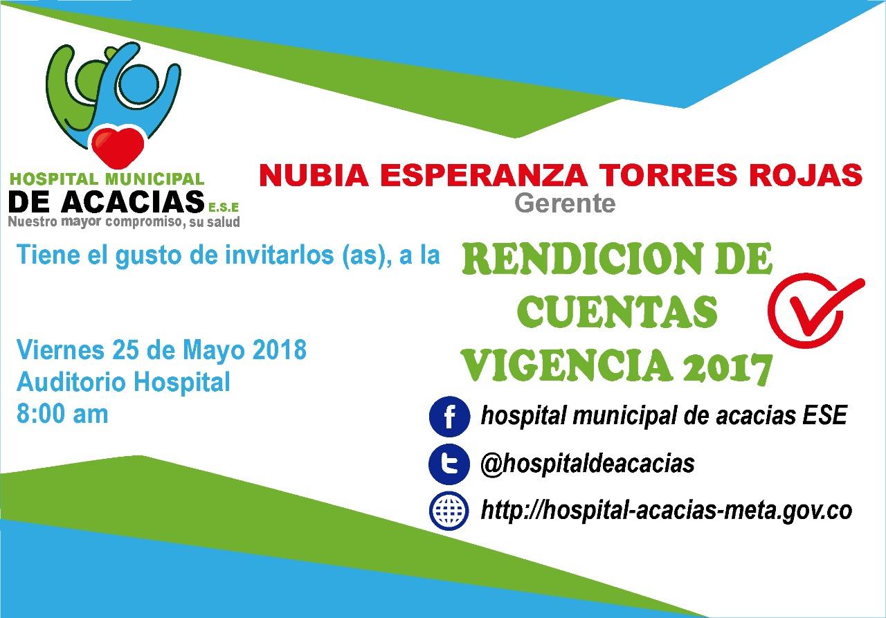 RENDICION DE CUENTAS HOSPITAL