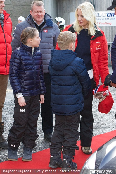 Princess Ingrid Alexandra of Norway, Prince Sverre Magnus of Norway and Crown Princess Mette-Marit of Norway attend the FIS Nordic World Cup