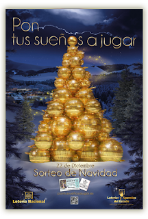 Cartel PON TUS SUEÑOS A JUGAR - Comprar Loteria Navidad