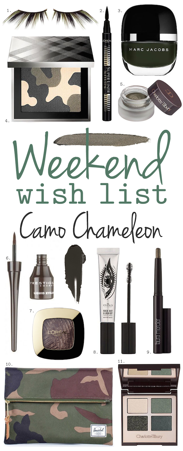 Weekend Wish List – Camo Chameleon