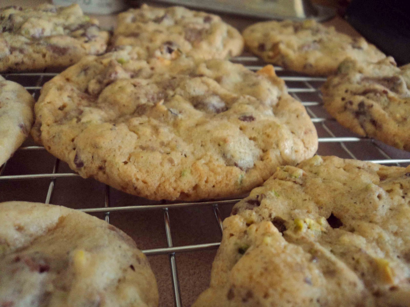 ... & Salty Southern Comfort: Triple Chocolate Chunk & Pistachio Cookies