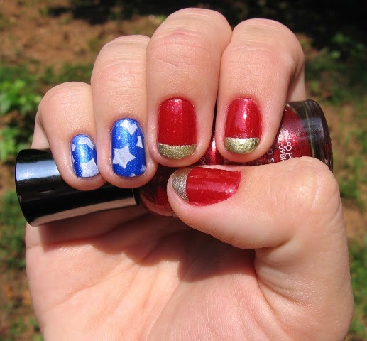 Nails Wonder Woman Can Nail Art Be Feminist: Digit Decor: Wonder Woman Manicure