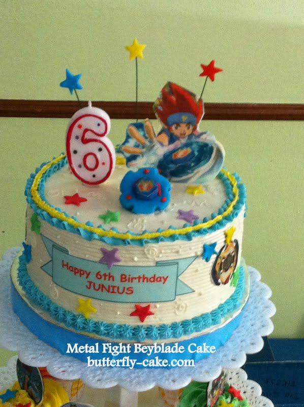 Butterfly Cake Beyblade Cupcake On Tiers